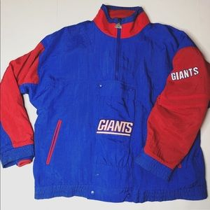 rare Vintage NY Giants Apex One Jacket+ Fleece